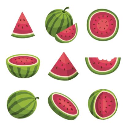 Free watermelon illustration: Watermelons