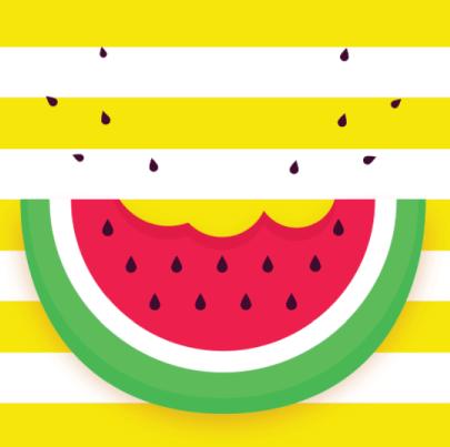 Free watermelon illustration: Pop Art Watermelon