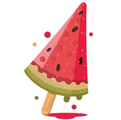 Free watermelon illustration: Watermelon Popsicle