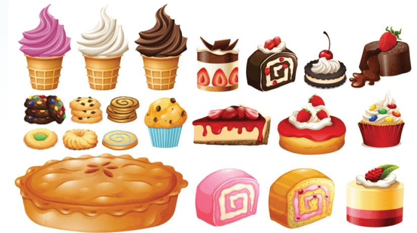 Free dessert illustration: Dessert Assortment