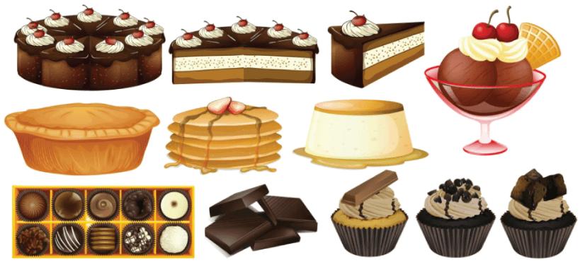 Free desserts illustration: Different Types of Desserts