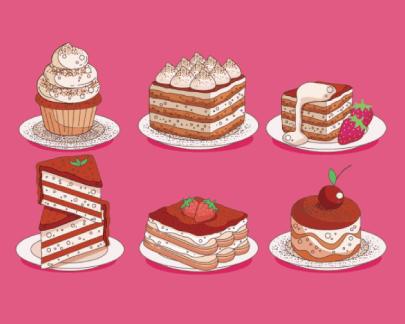 Free dessets illustrator: Tiramisu Dessert
