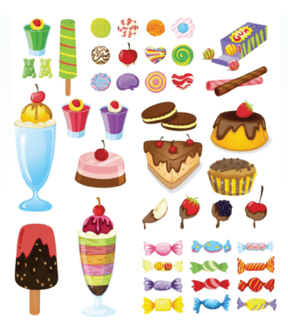Free dessert illustration: Different Sweet Desserts