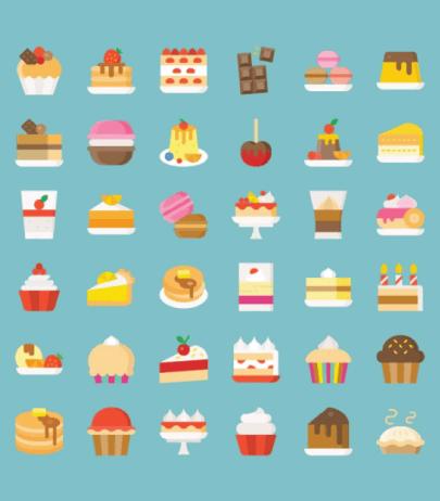 Free dessert illustration: Sweets and Desserts