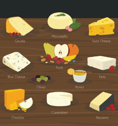 free cheese illustration: Cheese Selection