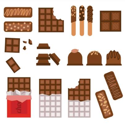 Free chocolate illustration: Chocolate Bars