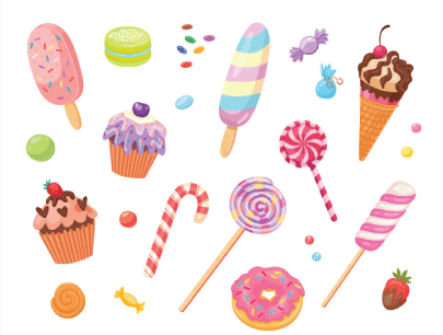 free candy illustration: Sweets and Cakes
