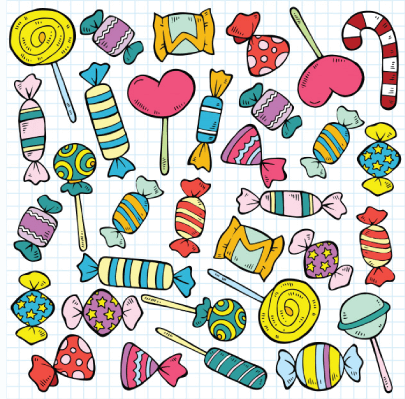 free candy illustration: Hand-Drawn Candy
