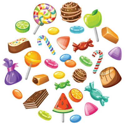 free candy illustration: Sweet Candy Set