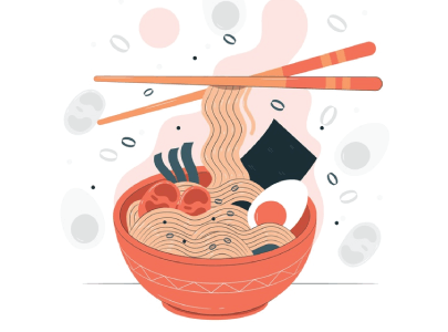 free ramen illustration: And More Hot Ramen