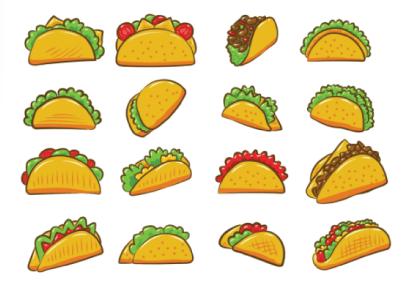 free taco illustration: Taco Collection