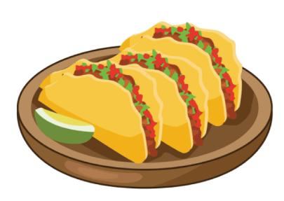 free taco illustration: Delicious Tacos