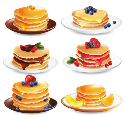 free pancake illustration: Maple Pancakes