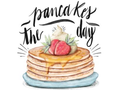 free pancake illustration: Pancake Day