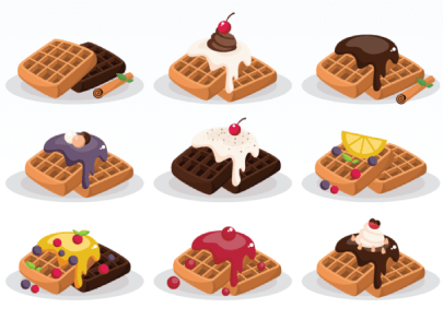 free waffle illustration: Waffles