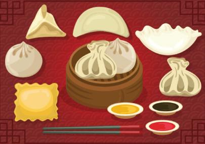 Free Dumpling Illustration: Set Of Delicious Dumplings