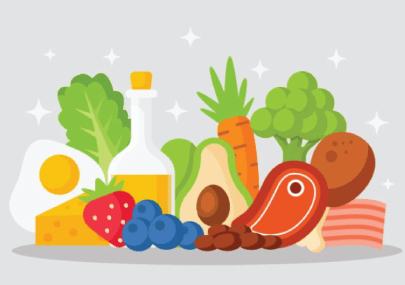 Free Healthy Food Illustration: Ketogenic Diet Food