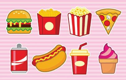 Free Fast Food Illustration: Fast Food Set