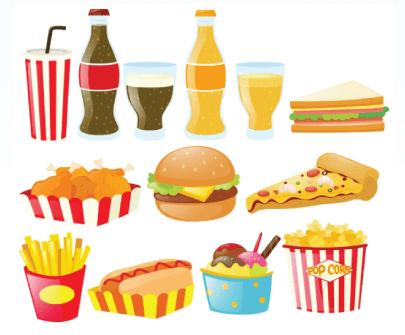 Free Fast Food Illustration: Fastfood Set