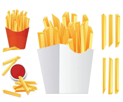 Free Fast Food Illustration: French Fries