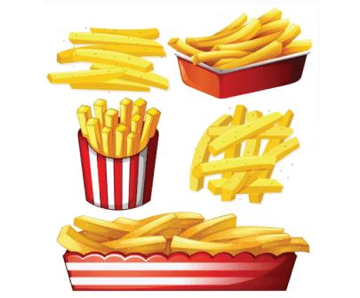 Free Fast Food Illustration: Set of Hot Chips