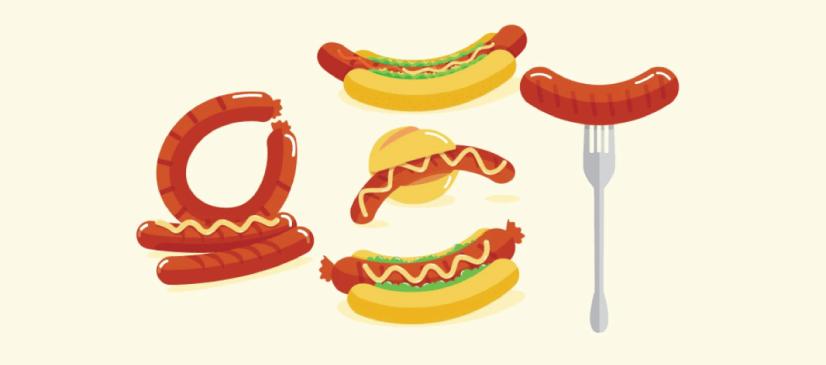 Free Sausage Illustration: Bratwurst Sausages