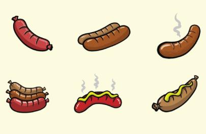 Free Sausage Illustration: Sausages