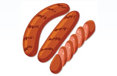 Free sausage Illustration: Grilled Sausages
