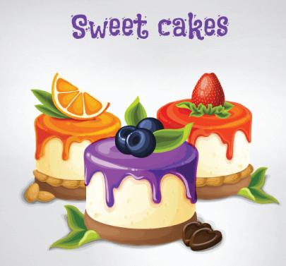 Free Cheesecake Illustration: Sweet Cheesecakes