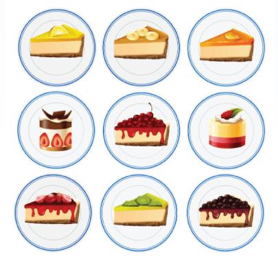 Free Cheesecake Illustration: Set of Cheesecakes