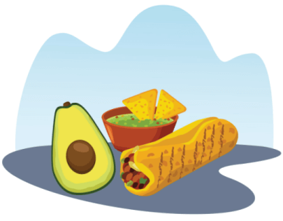 Free Mexican Food Illustration: Free Buritto Illustration 02