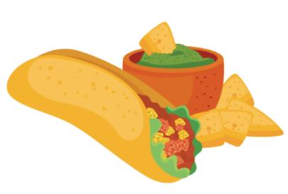 Free Mexican Food Illustration: Burrito and Nachos