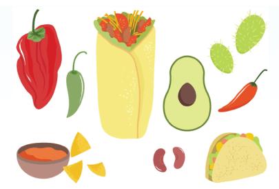 Free Mexican Food Illustration: Free Buritto Illustration 03