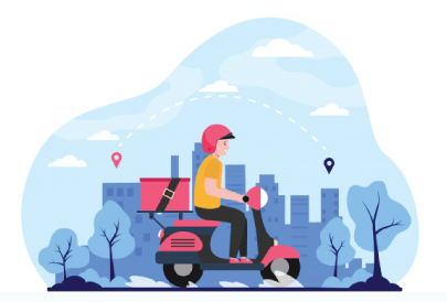 Free Food Delivery Illustration: Express Delivery