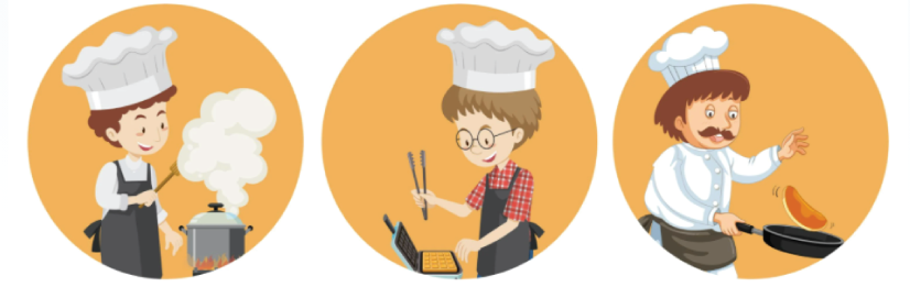 Free Chef Character illustration: A Set of International Chef Characters