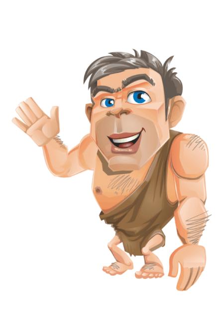Free Adobe Character Animator Puppet 2021 Caveman : Free Puppet by Graphic Mama