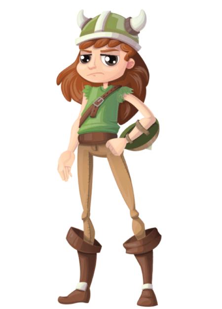 Free Adobe Character Animator Puppet 2021 Viking Girl : Free Puppet by Graphic Mama