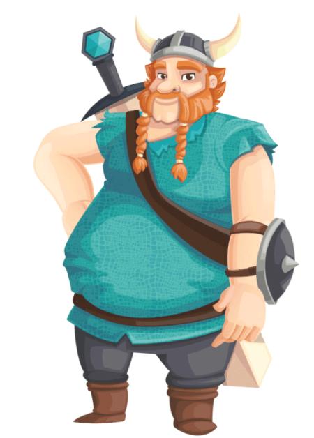 Free Adobe Character Animator Puppet 2021 Viking Big Boy : Free Puppet by Graphic Mama