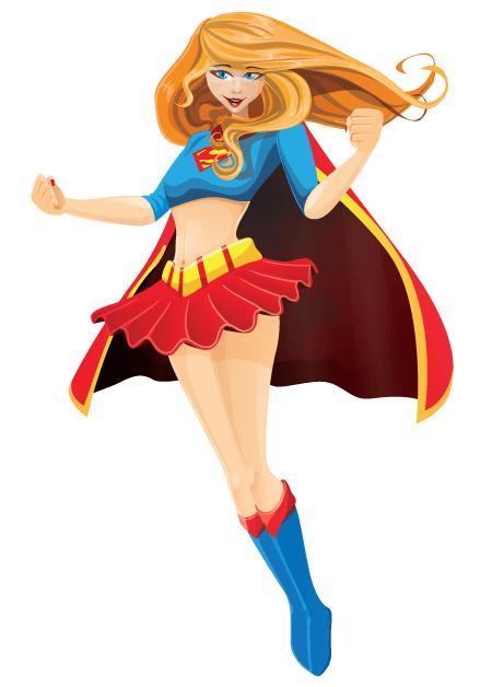 Free Adobe Character Animator Puppet 2021 Superhero Girl: Free Puppet by Graphic Mama
