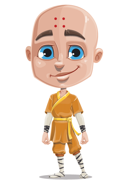 Free Adobe Character Animator Puppet 2021 Monk : Free Puppet by Graphic Mama