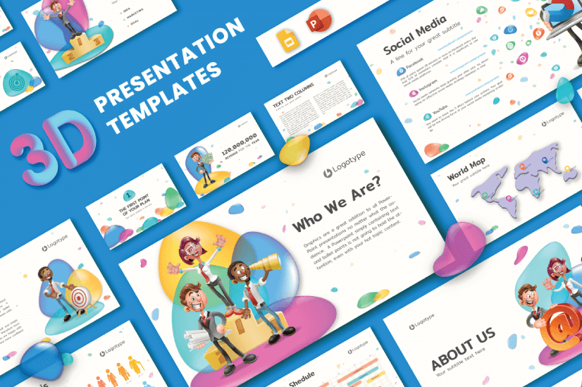 Modern PowerPoint PresentationTemplates by Graphic Mama: 3D
