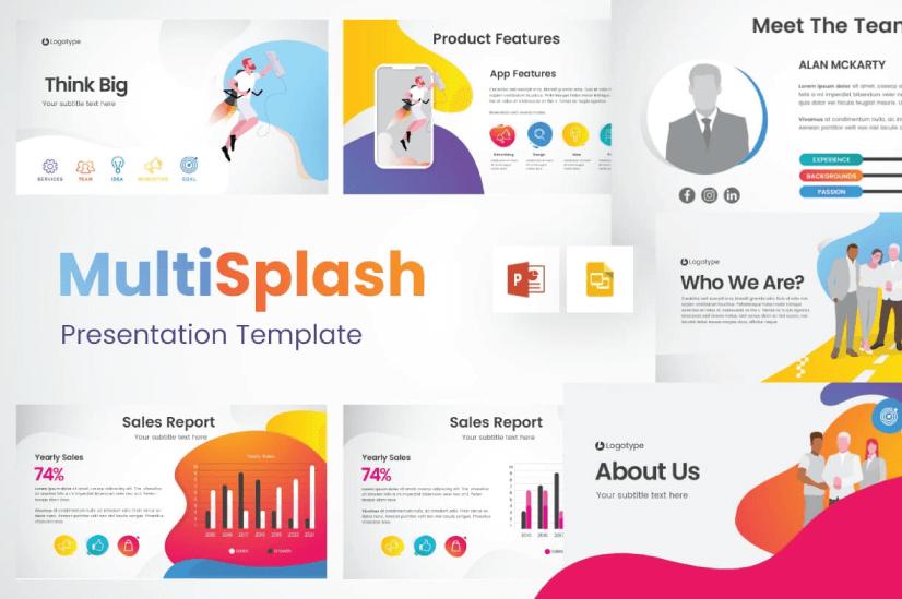 Modern PowerPoint PresentationTemplates by Graphic Mama: MultiSplash