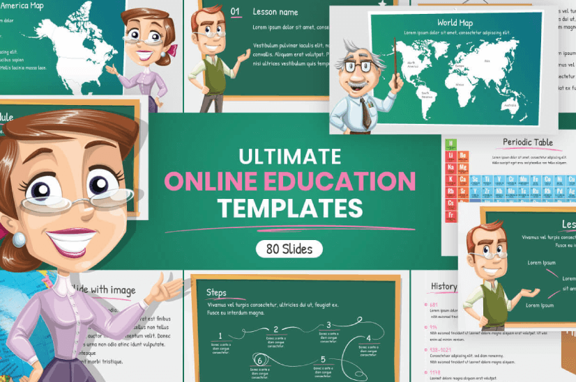 Modern PowerPoint PresentationTemplates by Graphic Mama: Education Theme
