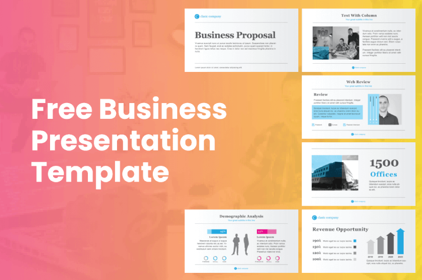 Modern PowerPoint PresentationTemplates by Graphic Mama: Free Business Presentation Template