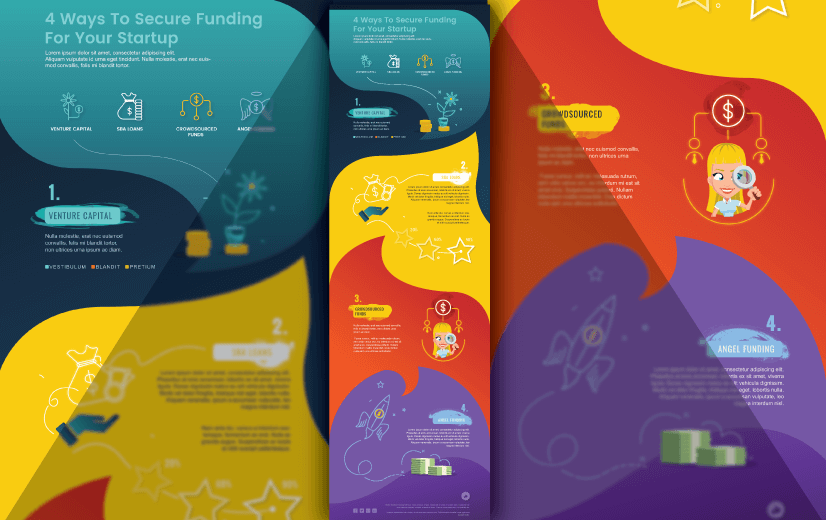Free Vector Infographic Design Template: Free Startup Business Plan Editable Vector Infographic Design