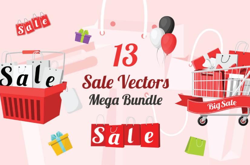 Free Ecommerce Illustrations Sale Vectors - MegaBundle by Graphic Mama