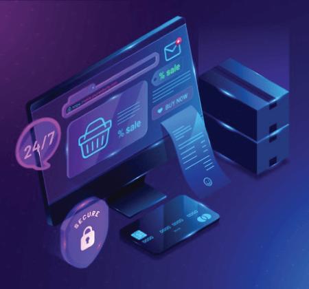 Free Ecommerce Illustrations: Isometric e-commerce and shopping basket Free Vector