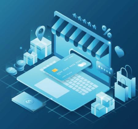 Free Ecommerce Illustrations: Isometric e-commerce - concept Free Vector
