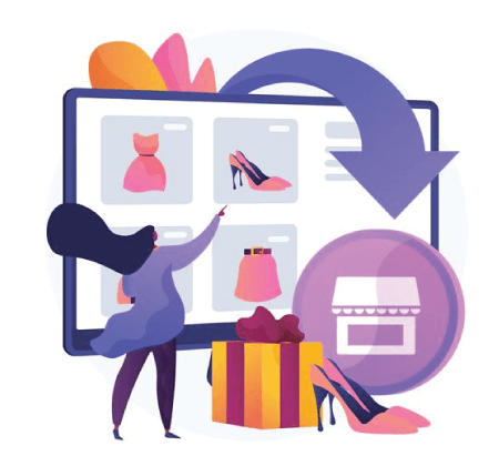Free Ecommerce Illustrations: Webrooming abstract concept illustration Free Vector