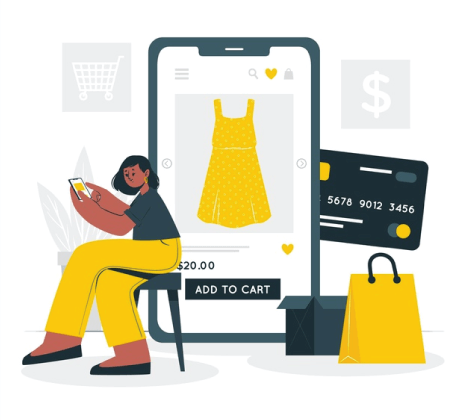 Free Ecommerce Illustrations: Online shopping concept illustration Free Vector